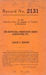 The South Hill Production Credit Association, etc. v. Gracie V. Hudson