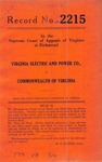 Virginia Electric and Power Company v. Commonwealth of Virginia