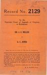 Dr. J. E. Miller v. G. C. Jones