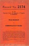 Willie Bradshaw v. Commonwealth of Virginia