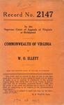 Commonwealth of Virginia v. W. O. Ellett