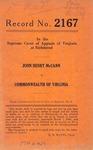 John Henry McCann v. Commonwealth of Virginia