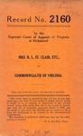 Mrs. R. L. St. Clair, etc. v. Commonwealth of Virginia