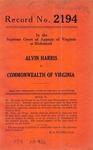 Alvin Harris v. Commonwealth of Virginia