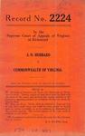 J. O. Hubbard v. Commonwealth of Virginia