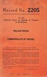 William Poulos v. Commonwealth of Virginia