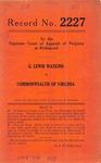 G. Lewis Watkins v. Commonwealth of Virginia