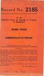 Wilmer Whited v. Commonwealth of Virginia