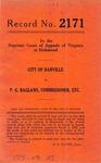 City of Danville v. P. G. Ragland, Commissioner of Revenue of the City of Danville