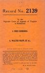 J. Fred Edmonds v. G. Walter Mapp, et al.