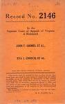 John T. Grimes, et al. v. Eva J. Crouch, et al.
