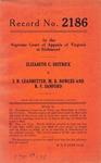 Elizabeth C. Deitrick v. I. N. Leadbetter, M. B. Bowles and R. F. Sanford