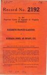 Elizabeth Frances Glascock v. Bureada Jones, an Infant, etc.