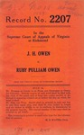 J. H. Owen v. Ruby Pulliam Owen