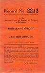Mozella E. Cope, Administratrix, etc. v. L. M. B. Shedd-Carter, etc.