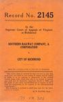 Southern Railway Company v. City of Richmond