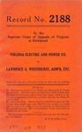 Virginia Electric and Power Company v. Lawrence G. Whitehurst, Administrator, etc.