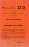 George C. McDaniel v. Mary Ferguson McDaniel