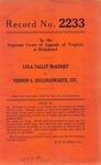 Lula Talley McKinsey v. Vernon S. Cullingsworth, etc.