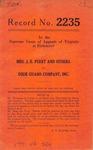 Mrs. J. E. Perry, et al. v. Dixie Guano Company, Inc.