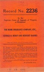 The Home Insurance Company, etc. v. George R. Berry and Herbert Barnes