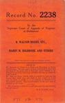 R. Walton Moore, etc. v. Harry M. Holbrook, et al.