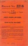 Annie M. Dearing, et al. v. Frank Walter, et al.