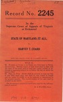 State of Maryland, For the Use of Ida May Joynes,  et al.  v.  Harvey T. Coard