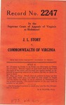 J. L. Story v. Commonwealth of Virginia