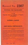 Raymond L. Jackson v. Leroy Hodges, Comptroller, etc.