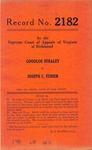 Goodloe Straley v. Joseph C. Fisher
