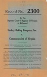 Caskey Baking Company, Inc. v. Commonwealth of Virginia
