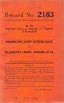 Washington County National Bank v. Washington County, Virginia, et al.