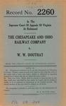 The Chesapeake and Ohio Railway Company v. W. W. Douthat