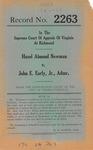 Hazel Almond Newman v. John E. Early, Jr., Administrator, etc.