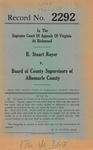 R. Stuart Royer v. Board of County Supervisors of Albemarle County