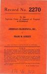 American Chlorophyll, Inc. v. Frank M. Schertz