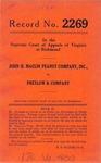John H. Maclin Peanut Company, Inc. v. Pretlow & Company