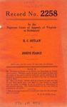 H. C. Outlaw v. Joseph Pearce