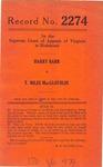 Harry Barr v. T. Miles MacGlothlin