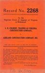 L. R. Colbert, t/a Virginia Construction Company v. Ashland Construction Company, Inc.