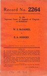 W. S. McDaniel v. E. A. Hodges