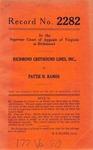 Richmond Greyhound Lines, Inc. v. Pattie H. Ramos