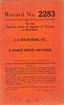 C. S. Taylor Burke, etc. v. R. Stanley Sweeley, et al.