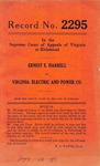 Ernest E. Harrell v. Virginia Electric and Power Company