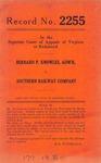 Bernard P. Knowles, Administrator, etc. v. Southern Railway Company