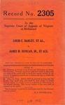 Louis C. Barley, et al. v. James M. Duncan, Jr., et al.
