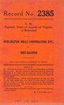 Burlington Mills Corporation, etc. v. Inez Hagood