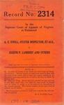 A. E. Ewell, Oyster Inspector, et al. v. Joseph P. Lambert, et al.