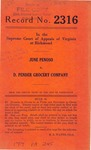 June Penoso v. D. Pender Grocery Company